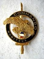 INSIGNE BREVET COMMANDO ECHELON MONITEUR COMMANDO (OR) ETAT EXCELLENT DRAGO PARIS - Hueste
