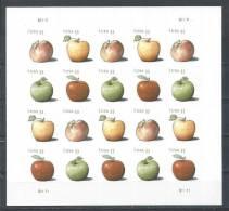 USA. Scott # 4727-30 MNH Sheet  Of 20. Apples Postcard Rate 2013 - Feuilles Complètes