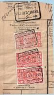 Spoorwegfragment, Afst. VLAMERTINGE 04/09/1943 + Stempel GEWICHT BEVONDEN TE VLAMERTINGHE - 1942-1951