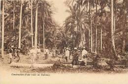 Afrique - Africa - Dahomey -ref A414- Construction D Une Route Au Dahomey -carte Bon Etat   - - Dahomey