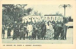 Afrique - Africa - Dahomey -ref A410-un Groupe De Chefs A Abomey  -carte Bon Etat   - - Dahomey