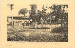 Afrique - Africa - Dahomey -ref A403- Inondations De Cotonou 1925- La Mission Catholique  - Carte Bon Etat  - - Dahomey