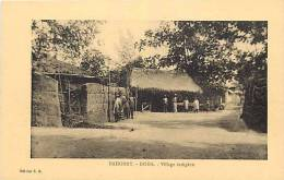 Afrique - Africa - Dahomey -ref A401- Doha - Village Indigene  - Carte Bon Etat  - - Dahomey