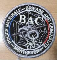 PATCH POLICE :BAC MONTGERON - Police & Gendarmerie