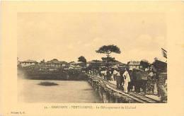 Afrique - Africa - Dahomey -ref A400- Porto Novo - Debarquement Du Chaland  - Carte Bon Etat  - - Dahomey