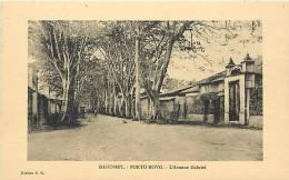 Afrique - Africa - Dahomey -ref A399- Porto Novo -  L Avenue Gabriel  - Carte Bon Etat  - - Dahomey