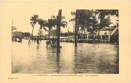 Afrique - Africa - Dahomey -ref A398- Inondations De Cotonou 1925 - Carte Bon Etat  - - Dahomey