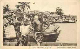 Afrique - Africa - Dahomey -ref A394- Marché Lagunaire   - Cotonou  - Carte Bon Etat  - - Dahomey