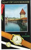 Tourist Map Of Lucerne, Switzerland - Geographical Maps