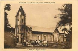 Afrique - Africa - Ref A392- Benin - Eglise D Eshuré -theme Religions -christianisme -missions Africaines-carte Bon Etat - Benin