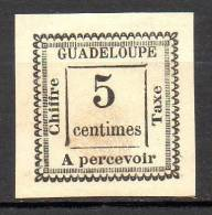Guadeloupe - Taxe - 1884 - N° Yvert : 6 (*) - Segnatasse