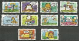 "France  2008 Série  "" Garfield ""  10 TP Oblitérés - France"