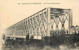 Afrique - Africa - Djibouti - Ref A371- Souvenir De Djibouti - Le Pont D Aouache   - Carte Bon Etat  - - Djibouti