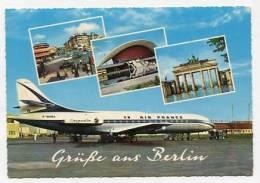 GERMANY - AK 145709 Grüße Aus Berlin - Flughafen Tegel - Air France - Tegel