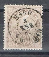 Sello 50 Mils Isabel II 1868, Fechador HARO (Logroño), Num 98 º - 1850-68 Reino: Isabel II