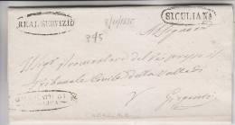 3.11.1835 Prefilatelica SICULIANA - 1. ...-1850 Prefilatelia