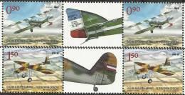BHRS 2012-576-7 OLD AIR PLANE, BOSNA AND HERZEGOVINA-R.SRBSKA, 2 X 2v + Labels, MNH - Flugzeuge