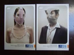 Discovery Real Time Lot De 2 Cartes Postales - Publicité