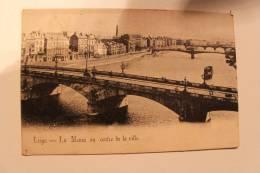 LIEGE  - La Meuse Au Centre Ville - Circulée 1903 - Liege