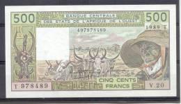 AOF Togo  500 Fr 1989 - Togo