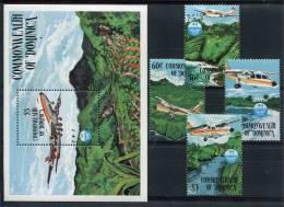 Dominique           834/837  **  +  Bloc  94  **    Avions - Dominica (...-1978)