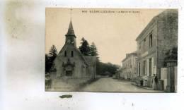 Glisolles  27   La  Mairie -la Rue Animée Et  L'Eglise - Other Municipalities