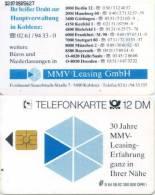 Telefonkarte Deutschland - S 64  08.92 - Werbung -  MMV Leasing