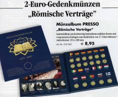 Album 2€ Zu 50 Jahre Vertrag Von Rom 2007 Neu 9€ Aller 17 Neuen 2EURO-Gedenkmünzen Zum Einlegen Der Verschiedenen Münzen - Silverware