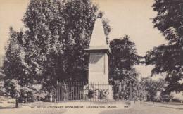 The Revolutionary Monument Lexington Massachusetts - War Memorials