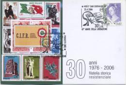 ITALIA - FDC MAXIMUM CARD 2006 - ANNIVERSARIO DELLA LIBERAZIONE - ANNULLO SPECIALE - Cartoline Maximum