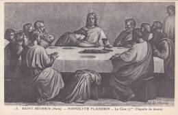 Cp , 75 , PARIS , SAINT-SÉVERIN , Hippolyte Flandrin , La Cène (7me Chapelle De Droite) - Eglises