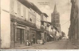 Cpa Grenade  Rue Gambetta - Frankreich