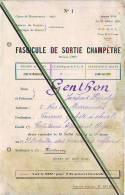 Fascicule De Sortie Champêtre Du 19 Juillet 1925 Fort Montessuy Caluire Et Luire Rhône Valence Drôme Avec Menu Programme - Documents