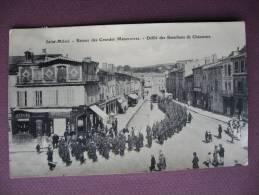 CPA 55 SAINT MIHIEL Défilé Des Bataillons De Chasseurs Régiments Militaires Top Animée ATELIERS DEMOGET - Saint Mihiel