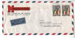 1977 Italia Italy Busta Via Aerea Trentennale Repubblica Cologno Monzese - 6. 1946-.. Repubblica