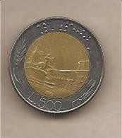 """Italia - Moneta Circolata Da 500£ """"Bimetallico"""" - 1982 - 500 Lire"""