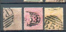 C168 - MAURICE - YT 31-34-38 Obli - Mauritius (...-1967)