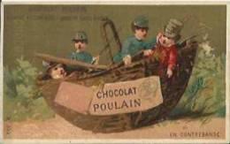 "Chromo CHOCOLAT POULAIN - "" En Contrebande "" - Fable "" Le Charlatan "". - Poulain"
