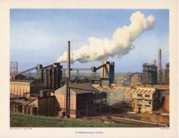 Gravure 1954 - COLOMBELLES - Hauts Fourneaux Proche CAEN - Old Paper