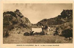 Afrique - Africa -lesotho- Ref A297- Missions Du Sud Afrique - Le Diner En Montagne  - Basutoland -carte Bon Etat   - - Lesotho