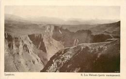 Afrique - Africa -lesotho- Ref A294- Lessouto - Les Maloutis - Partie Montagneuse -carte Bon Etat   - - Lesotho