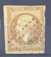 FRANCE NAPOLEON III  N° 13B YT Oblitere Losange Petit Chiffre 898 - 1853-1860 Napoleon III