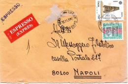 1992  LETTERA   ESPRESSO CON  ANNULLO SANDONACI BRINDISI - 6. 1946-.. Repubblica