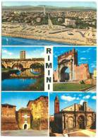 Italy, RIMINI, Multi View, 1970 Used Postcard [13514] - Rimini