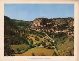 Gravure 1954 - ROCAMADOUR - Paysages Des Causses - Vieux Papiers