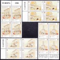 JERSEY  EUROPA  1990  ** MNH  BLOCK Of 4 - Europa-CEPT
