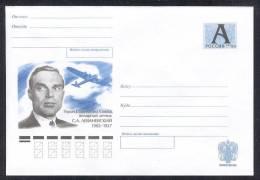 RUSSIA 2002 STATIONERY ENTIER COVER 219 MINT LEVANEVSKY PILOT LEWONIEWSKI AIRPLANE AVIATION AIR FORCE PLANE CHELYUSKIN - Interi Postali