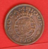 MOZAMBIQUE  1  ESCUDOS  1963   KM# 82  -    (1388) - Mozambique