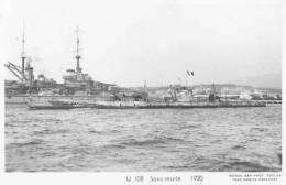 Sous-marin U108 Futur LEON MIGNOT (Marine Nationale) - Carte Photo Marius Bar - Bateau/ship/schiff - Submarinos