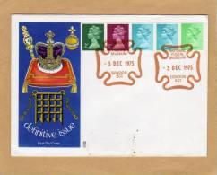 Enveloppe Brief Cover FDC Definitive Issue Couronne Royauté Bijoux National Postal Museum - 1971-1980 Em. Décimales